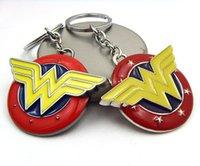 keyring - Wonder Woman Keychains Classic Retro Logo Metal Keyring Key chains DC Comics New