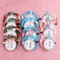 Wholesale Blue Lokai Bracelet Wristband Camo Clear Silicone Wristbands Bracelets Black White Beads Bangles Jewelry Father s Day Gift DHL