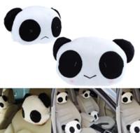 Wholesale NEW pair of cute car Panda headrest Car Seat Cushion Pillow comfortable unique M12672 pillow supplier