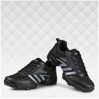 Wholesale Breathable Damping Sports Dance Shoes for Men Rubber Foot Pad Sneakers Shoes Proffesional Mesh Lining Dancing Shoes