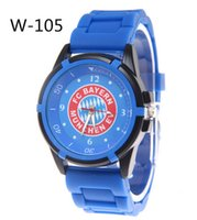 analog fan - Silicone men quartz watch sports watches stainless steel gifts for men Madrid fans souvenirs football watch relogio masculino