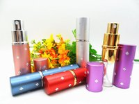 Wholesale 5ML New Plum Blossom Portable Travel Refillable Perfume Spray Bottles Mini Perfume Atomizer with DHL