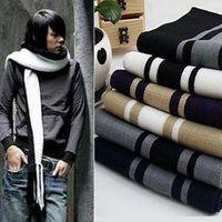 Wholesale 2015 Hot Men winter striped scarf men cotton scarves tassel scarf fashion designer wrap men business scarf