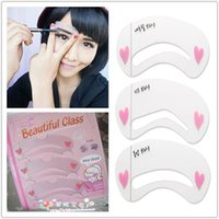 Wholesale akeup Tools Accessories Eyebrow Stencils Brow Painted Eyebrow Pencil Stencils Model Styles Template Stencil for Eye Eyebro