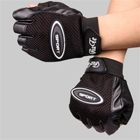 Wholesale Best Road Bike Gloves For Men High Quality Wear Resistant Leather Cycling Gloves Colors Fingerless Motorcycle Gloves