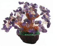 best craft supplies - 2015 Gemstone trees Best gift of natural crystal Lucky agates Tree Pachira Crafts Home Gifts Office Supplies