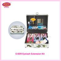 beauty case eyelashes - 2015 New Professional Portable Delure Green Beauty Grafting Eyelash Extension Kit False EyeLash Lashes Makeup Set with Silver Box Case E