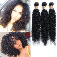 al por mayor pelo elfin-Maltés Kinky Curly Virgen Meches Bresilienne porciones Malasia Afro Kinky Curly Pelo 3 Paquetes Elfin productos Curly MA004