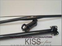 Wholesale New mtb bike parts set carbon fibre riser handlebar seatpost stem carbon parts