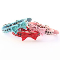 basic store - Armi store Bling Bowknot Dog Collar Princess Leas Collars For Dogs Cat Pet Accessories