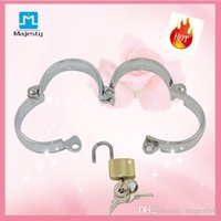 Wholesale Stainless Steel bdsm toys Metal Female Cross Handcuffs Bondage Handcuffs Cuffs Restraints Sex Toys For Couple