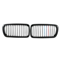 Wholesale Pair Car Front Grilles Gloss Black M color Grille for BMW E38 Door Exterior Styling order lt no track