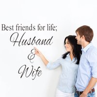 best life quotes - Best friends for life husband and wife art quote wall sticker wedding decoration home decoration adesivo de parede stickers