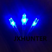 activate id - 3PK high quality String activated lighted arrow nock arrow tails for ID mm hunting arrows blue color