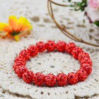 Wholesale 2015 Bling Women Jewelry Rhinestone Ball Carved Bead Link Adjustable Bracelets Shamballa Stretch Bracelets Fashion Accessories