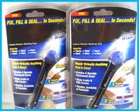 Wholesale 5 Second Fix New All purpose Adhesive Abs Pvc Glue UV Light Repair Tool Liquid Plastic Welding Compound DHL Free