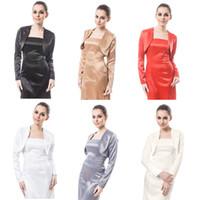 arrival yarn jacket - New Arrival Wedding Prom Evening Ivory Satin Bolero Shrug Jacket Stole Long Sleeve US Size