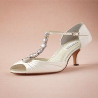 almond ribbon - 2015 Elegant Wedding Shoes Peep toes Stiletto Bridal Shoes Sandals Middle Heels With Clearly Shiny Crystals Bridal Dancing Shoes