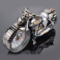 antique timepieces - Clocks Alarm Clocks Motorcycle Design Quartz Clock Alarm Clock Time Keeper Timepiece Desktop Children Alarm Clock zJJ0140