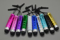 Wholesale 5000pcs Colorful Universal Mini Stylus Touch Screen Pen With Anti Dust Plug For Samsung Blackberry Capacitance Screen Phone Table pc A DB