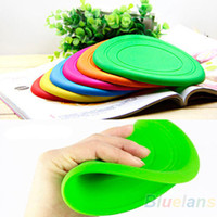 Wholesale 1PC Hot Dog Frisbee Flying Disc Tooth Resistant Outdoor Large Dog Training Fetch Toy Silicone EH