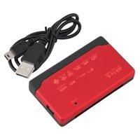 al por mayor tarjeta adaptadora xd-2016 NUEVO T-Flash TF M2 XD MMC del ms del CF del adaptador del lector de tarjetas del USB 2.0 de la memoria roja roja libera el envío