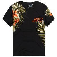 art tattoo shirt - Men s Graphic Tee Short Sleeve T Shirt Hawaii Color Flower Print Ukiyoe Tattoo Art Design Cotton Black White Size M XXL