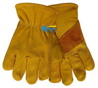 work gloves - Leather Driver Gloves Leather Welding Glove Cow Grain Leather Work Glove