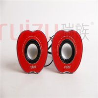 apple computers - Apple Mini USB2 laptop speakers good sound quality fashion gift RS680 Computer Accessories