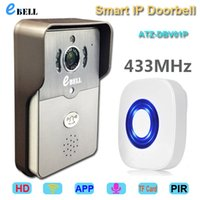 audio video designs - ATZ eBELL New Design ATZ DBV01P Full Duplex Audio P HD IP Video Doorbell Camera Interphone with Inside Dingdong Chime
