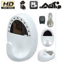 Wholesale 720P Night Vision SPY Hidden Video Camera Mini DV Clothes HOOK Remote