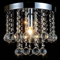 Wholesale 150MM Modern European K9 Crystal Chandelier Light Ceiling Crystal Chandelier Ceiling Lustre E14 LED Bulbs Lamp Lighting V
