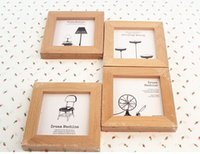 Cheap Free shipping! 4PCS LOT zakka desk stand frame picture photo frame wood frame order<$18no track