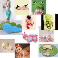 Cheap Baby Infant Animal Crochet Knitting Costume Soft Adorable Clothes Photo Photography Props Hats & Caps for 0-6 Month Newborn D1568-82