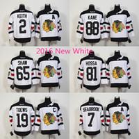 chicago - 2016 New White Chicago Blackhawks Andrew Shaw Brent Seabrook Jonathan Toews Hockey Jerseys Stitched Jersey