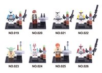 admiral free - Star Wars Yoda Sith Trooper Admiral Ackbar Building Blocks Minifigure Bricks Toys Figures sets with opp bag Free by DHL