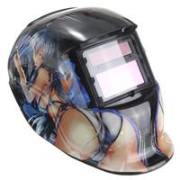 welding helmet - Beautiful Girl Solar Auto Darkening Welding Grinding Helmet Welder Mask Arc Tig Mig Welder Protection MAC_10G