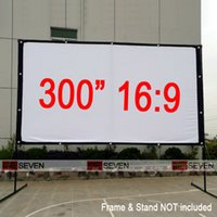 big projector screen - Inches Big Size Outdoor Frame Canvas Fabric Projection Screen for Any LED D Full HD Projectors Watch Movies Ourside