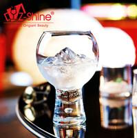 beer desserts - The creative glass cocktail juice cup cup foot high heat dessert milkshake cup ice cream beer cup