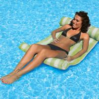 air sea - 2015 retail fashion PVC Inflatable Swimming Pool Sea Beach Sun Lounger Air Lilo Float Bed Mattress
