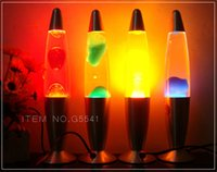 Wholesale Gradient beautiful lava lamp dimmable LavaLampe Aqua wax lamp lights small jellyfish floating free