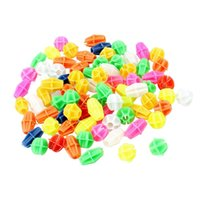 Wholesale FS Hot Multicolor Cylindrical Oval Shape Plastic Bicycle Spoke Beads order lt no track