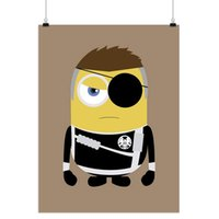 Wholesale Mild Art Anime Game Minions American Hero Nick Fury Black Cute Pop Cartoon Movie Poster A5 A4 A3 Prints Kids Room Wall Decor Canvas Painting