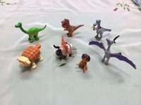 Wholesale 7PCS set The Good Dinosaur Figures Toys Dinosaur Figure Doll Toy Dinosaur Model Action Figures Doll Kids Christmas Gifts A