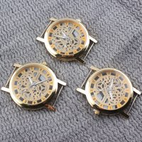 Wholesale High Quality Luxury Roman Numerals Quartz Watch Face Brand Gold Plated Watch Dial Accessories Watch Heads W43