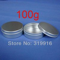 canning jars - 100g aluminum round empty canning jar tin containers aluminum storage container pc