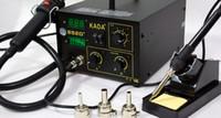 al por mayor de aire caliente estación de soldadura-DHL Freeshipping 110V / 220v KADA 852D + estación del soldador de la reanudación SMT de la estación del soldador del hierro de soldadura del aire caliente SMD