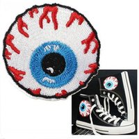 badge graphics - Eyeball Logo Iron Sew On Patch Applique Skate Snow Board Beanie Cap Badge