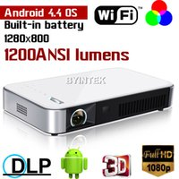 battery pdf - Android OS Wifi Smart D Mini DLP Pico Full HD P Video Bluetooth Blue Ray Battery Projector For Word Excell PPT PDF