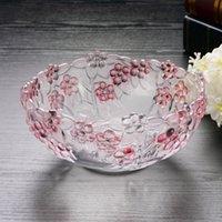 Wholesale Lugu crystal glass fruit plate fruit plate fruit bucket European creative fashion home fruit gift bucket